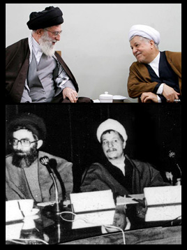 هاشمی رفسنجانی و سیدعلی خامنه ای  رفقای دیروز و دشمنان امروز