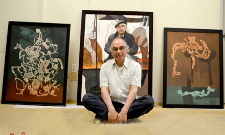 نقاشی محمود معراجی در کتاب های هنری کالج سنکا