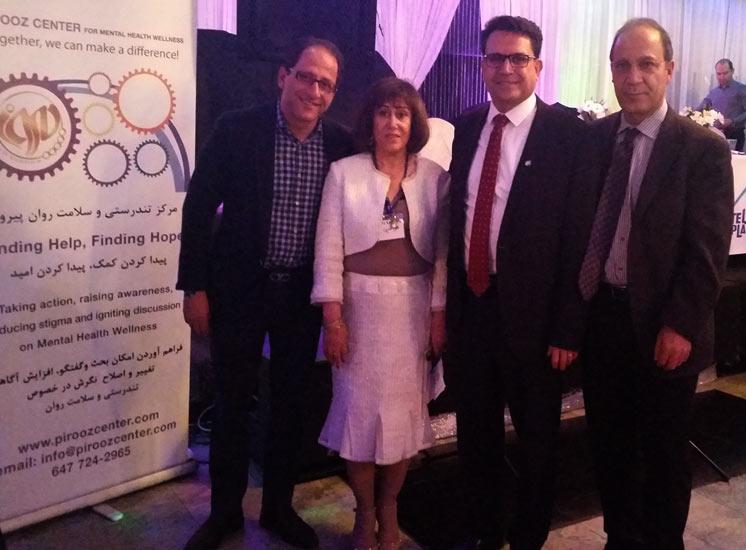 از راست: دکتر عباس آزادیان، مجید جوهری، اتی رحیمی، علی احساسی