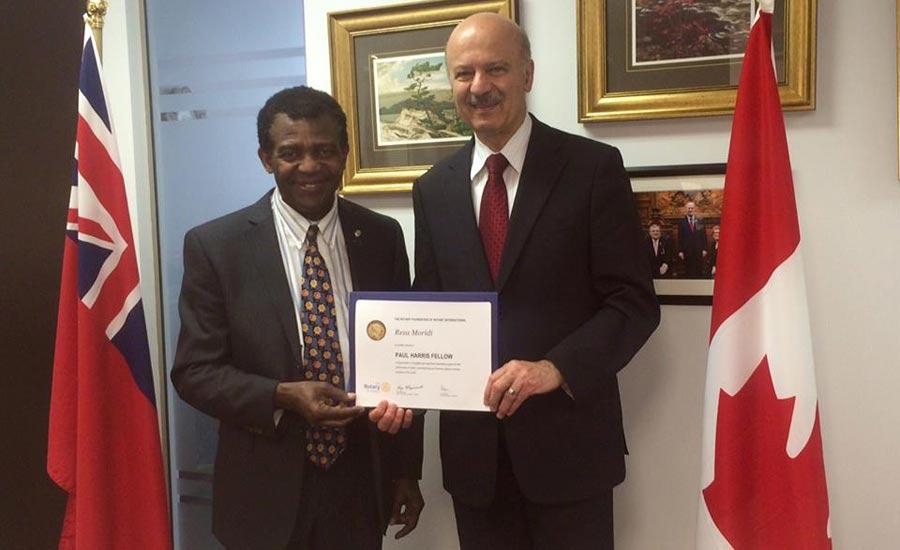 جایزه موسسه بین المللی اوتاری به دکتر رضا مریدی