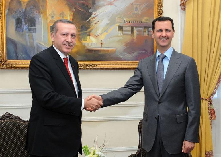 بشار اسد (راست) و رجب طیب اردوغان در دوران دوستی