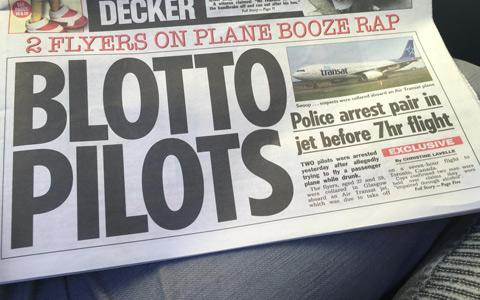 دو خلبان مست قبل از پرواز به سمت تورنتو دستگیر شدند