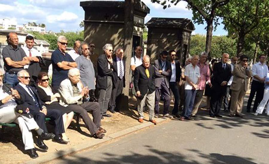 شرکت کنندگان در مراسم یادبود دکتر بختیار