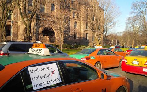 رانندگان تاکسی برای تظاهرات هفته ی آینده آماده می شوند