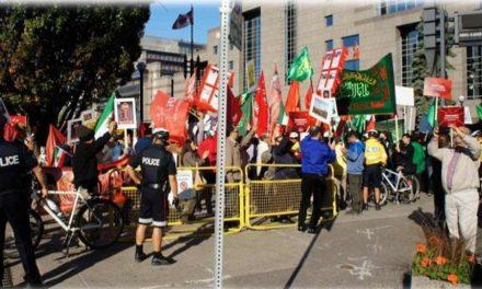 گزارش آکسیون اعتراضی علیه مراسم سینه زنی جمهوری اسلامی در تورنتو