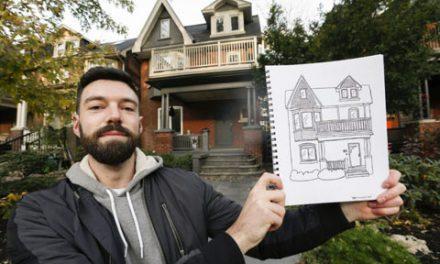 یک هنرمند خانه های بلوار پالمرستون را طراحی می کند