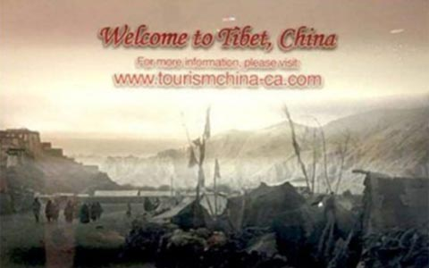 خشم جامعه ی تبتی به دلیل تبلیغات نصب شده در TTC