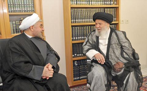 آیت الله موسوی و روحانی رئیس جمهور
