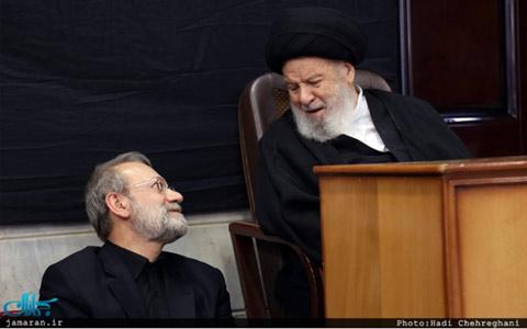 آیت الله موسوی اردبیلی و لاریجانی رئیس مجلس