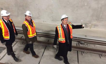بازدید شهردار تورنتو از ایستگاه متروی در حال اتمام دانشگاه یورک