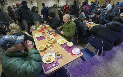 جشن کریسمس هیئت مذهبی اسکات، امید انسانهای تنها در تورنتو