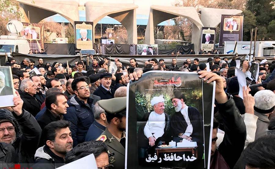 بازداشت یکی از شرکت کنندگان مراسم تشییع هاشمی رفسنجانی