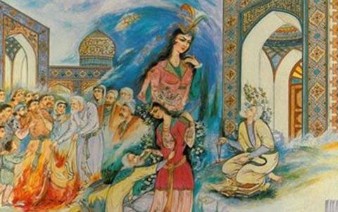 عشق شورانگیز شیخ صنعان و دختر ترسا/حسن گل محمدی