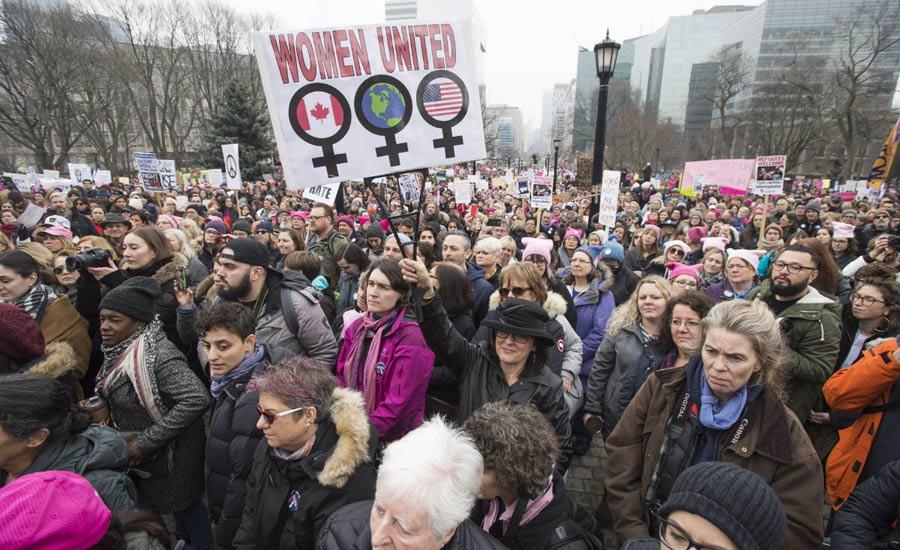 مشارکت کانادایی ها در رژه زنان واشنگتن
