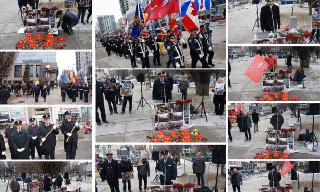 گزارش تظاهرات در تورنتو در گرامیداشت جان باختگان فاجعه پلاسکو