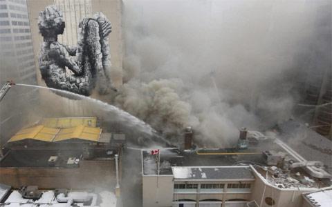آتش سوزی عظیم در باشگاه ورزشی تاریخی بدمینتون و راکت