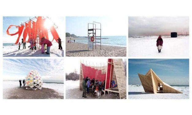 سازه های هنری به سواحل انتاریو در زمستان گرما می بخشند