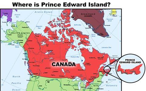 پرنس ادوارد آیلند کوچکترین استان کانادا