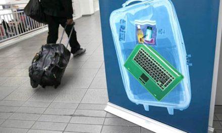 جلوگیری از همراه داشتن وسایل الکترونیکی در کابین هواپیما