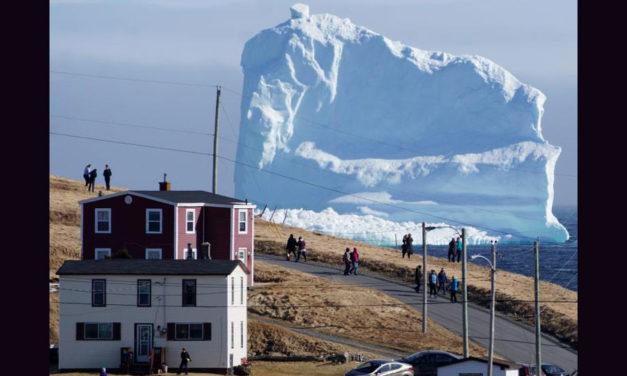 کوه یخی عظیم در سواحل جنوبی نیوفاندلند