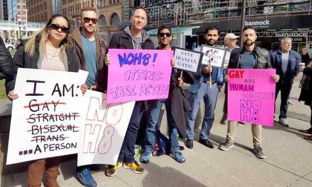 اعتراض به سرکوب همجنس گرایان در ایران و روسیه و درخواست بازگشایی پذیرش پناهندگی همجنس گرایان