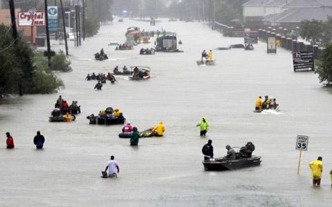 تعداد کشتههای توفان هاروی در هیوستون به ۱۸ نفر رسید