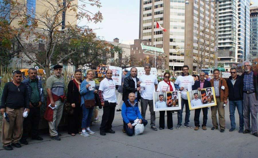 روز کارگر در تورنتو در حمایت از کارگران ایران