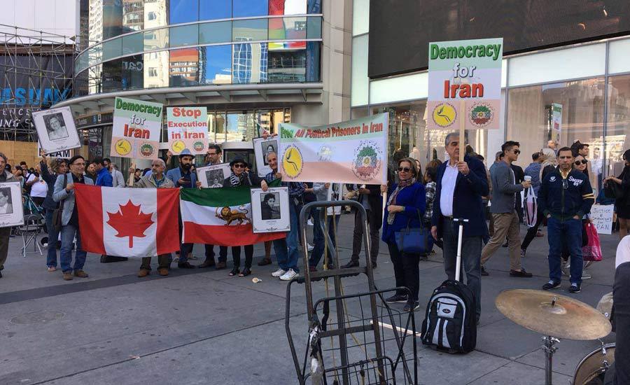 شورای ملی ایران برگزار کرد:گردهمایی در تورنتو در اعتراض به نقض حقوق انسانی در ایران