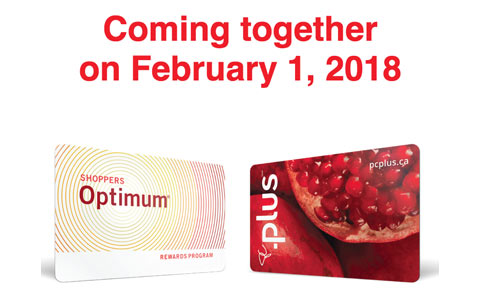 تلفیق کارت های Optimum فروشگاه شاپرز و PC Plus از ابتدای فوریه ۲۰۱۸