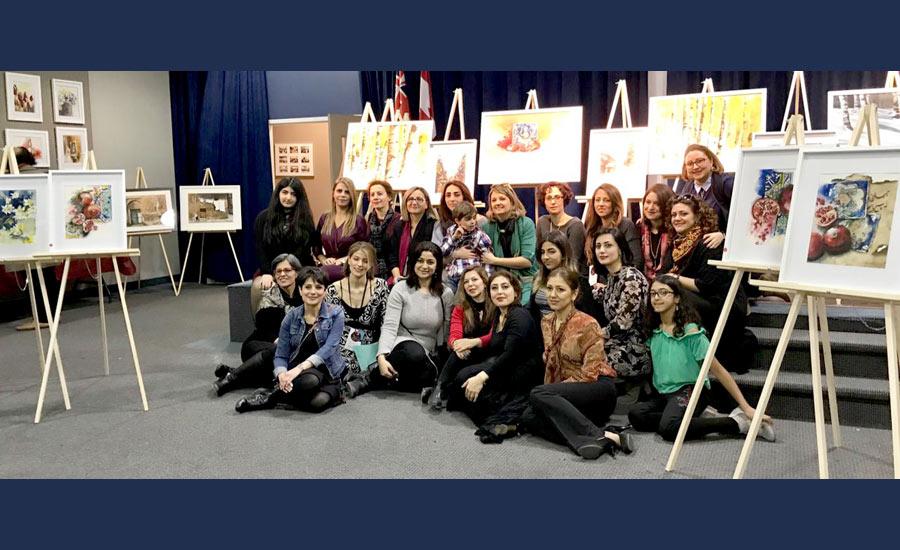 یلدا، انار و نمایشگاه نقاشی های آبرنگ در پریا