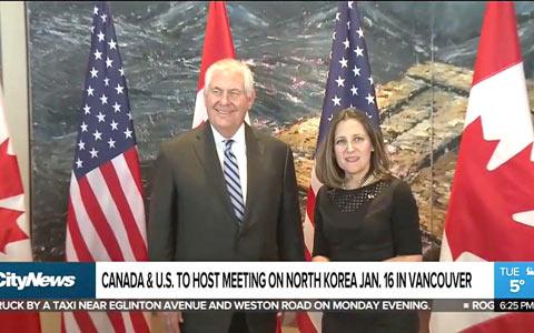 دیدار وزیر امور خارجه ایالات متحده امریکا از کانادا و مذاکرات بر سر بحران کره شمالی