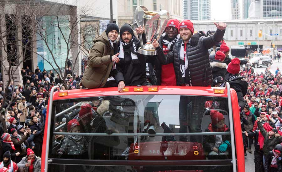تیم فوتبال تورنتو FC برای اولین بار برنده جام قهرمانی MLS لیگ برتر فوتبال آمریکای شمالی