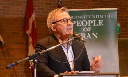 سخنان دیوید زیمر در پشتیبانی از مبارزات مردم ایران