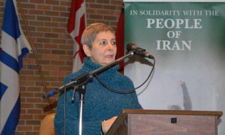 سخنان مهرانگیز کار در پشتیبانی از مبارزات مردم ایران