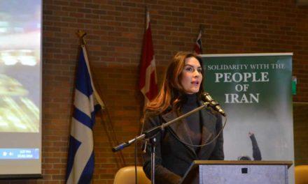 سخنان نازنین افشین جم ـ مک کی در پشتیبانی از مبارزات مردم ایران