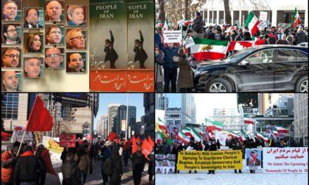 پشتیبانی ایرانیان تورنتو از مبارزات مردم ایران