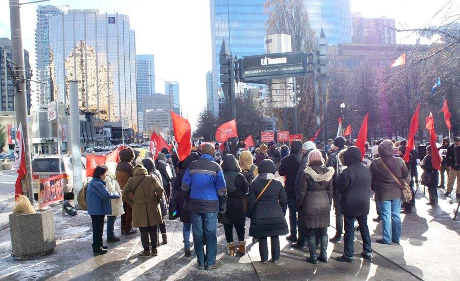 تظاهراتهای نیروهای چپ در تورنتو در حمایت از خیزش سراسری مردم در ایران