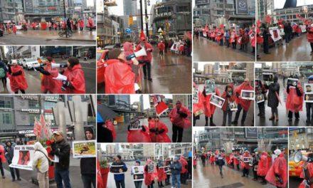 گزارش تظاهرات ۲۷ ژانویه در تورنتو علیه جمهوری اسلامی و در حمایت از بازداشت شدگان خیزش دی ماه۹۶