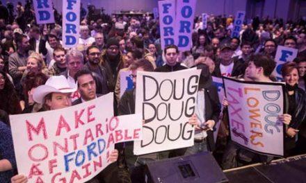 تشابه شعار و رفتارهای هواداران داگ فورد با هواداران ترامپ