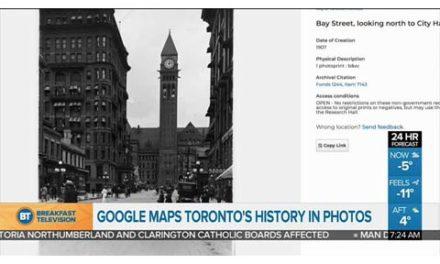 نقشه ی جدید گوگل از شهر تورنتو