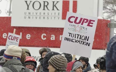 دانشگاه یورک در هفته ی سوم اعتصابات
