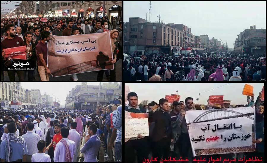 اعتراض مردم خشمگین اهواز به هویت انکار شده و مطالبات انباشته شده!