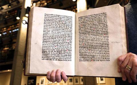 قدیمی ترین کتاب انگلیسی دنیا در دانشگاه تورنتو