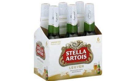 آبجویStella Artois شیشه ای از بازار جمع آوری می شود