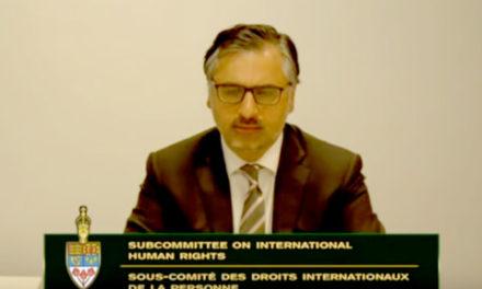 سخنان دکتر پیام اخوان در پارلمان کانادا درباره ی مسائل حقوق بشر در ایران