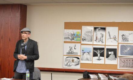 نگاه مانا نیستانی به کاریکاتور در ایران پس از انقلاب  در کانون کتاب تورنتو/فرح طاهری