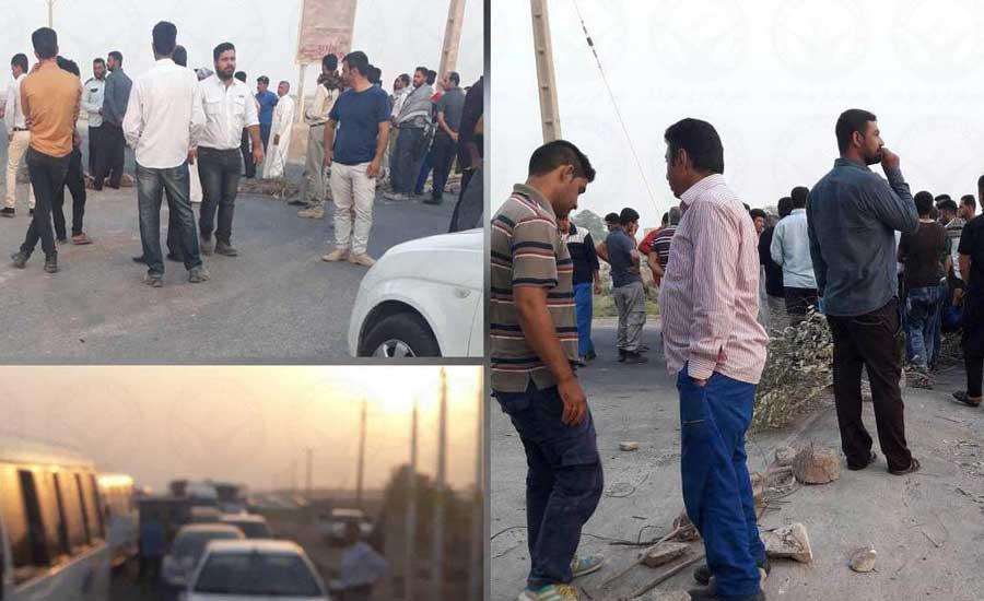 تجمع اهالی روستای جفیر در خوزستان در اعتراض به قطع آب