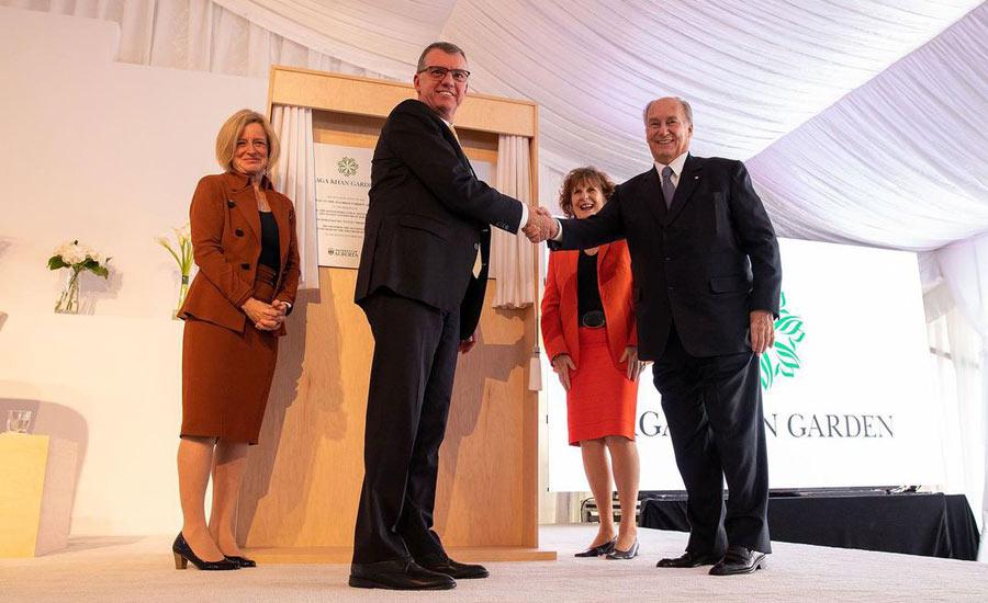 افتتاح باغِ هدیه ی آقاخان به دانشگاه آلبرتا