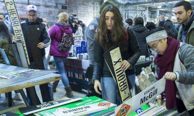 هجوم صدها نفر به حراج موفق «تاریخ متروی مونترال»