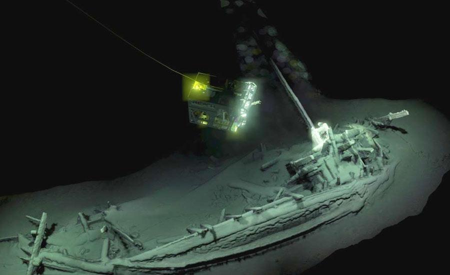 کشف قدیمی ترین کشتی غرق شده در دریای سیاه